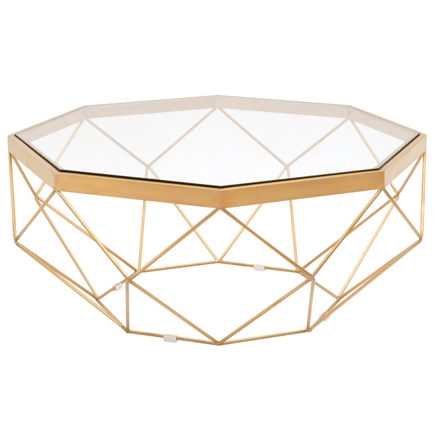Origami Coffee Table in Brushed Gold