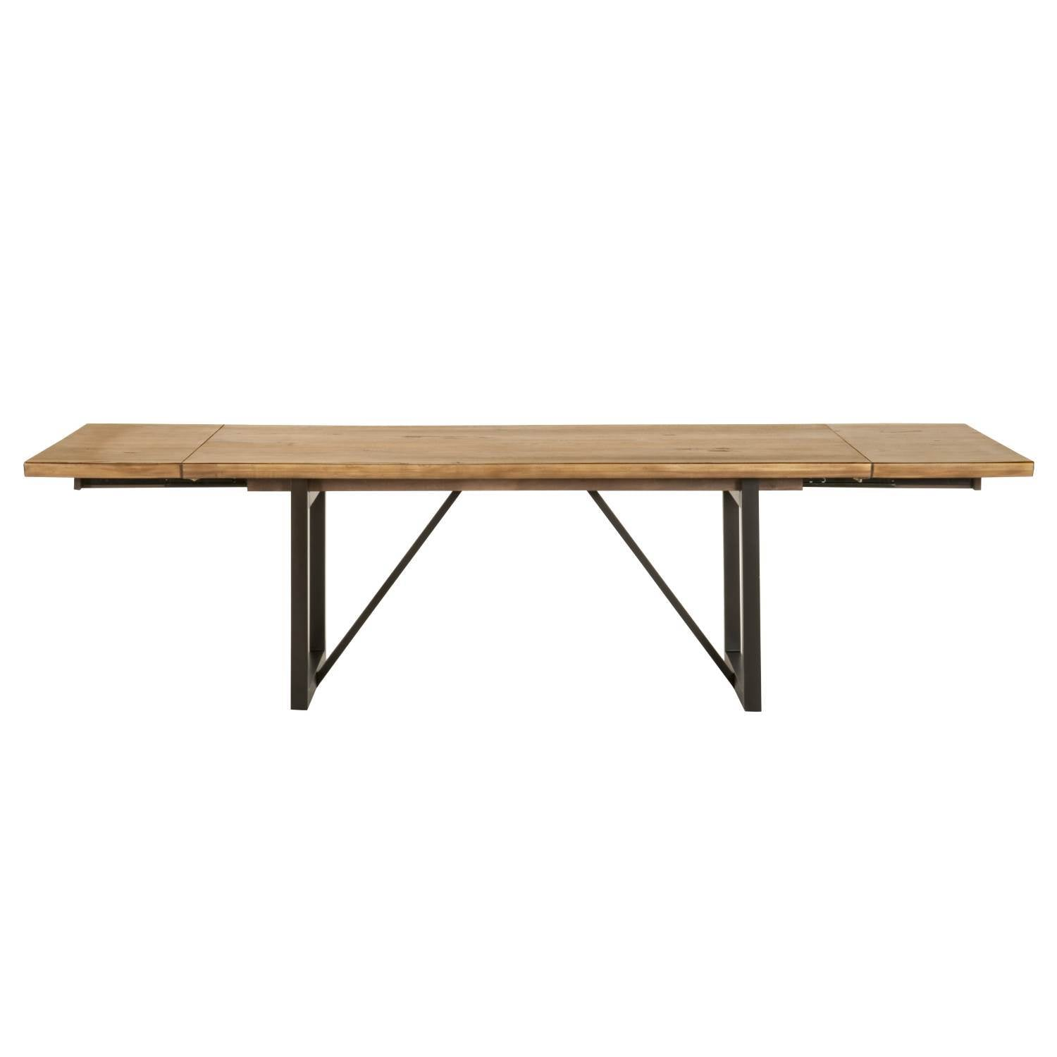 Origin Extension Dining Table in Timber Brown