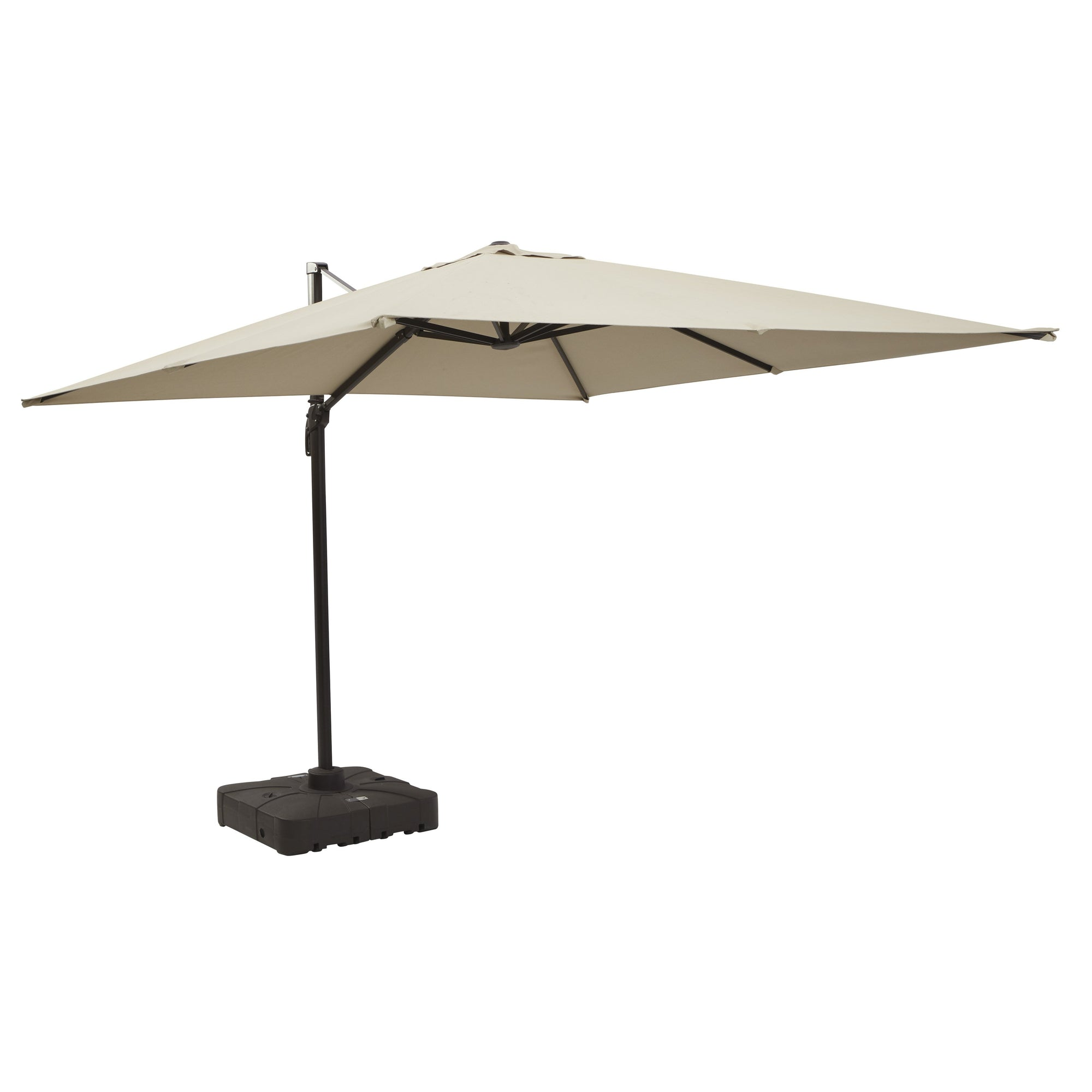 10-Foot Cantilever Umbrella with Base - Beige