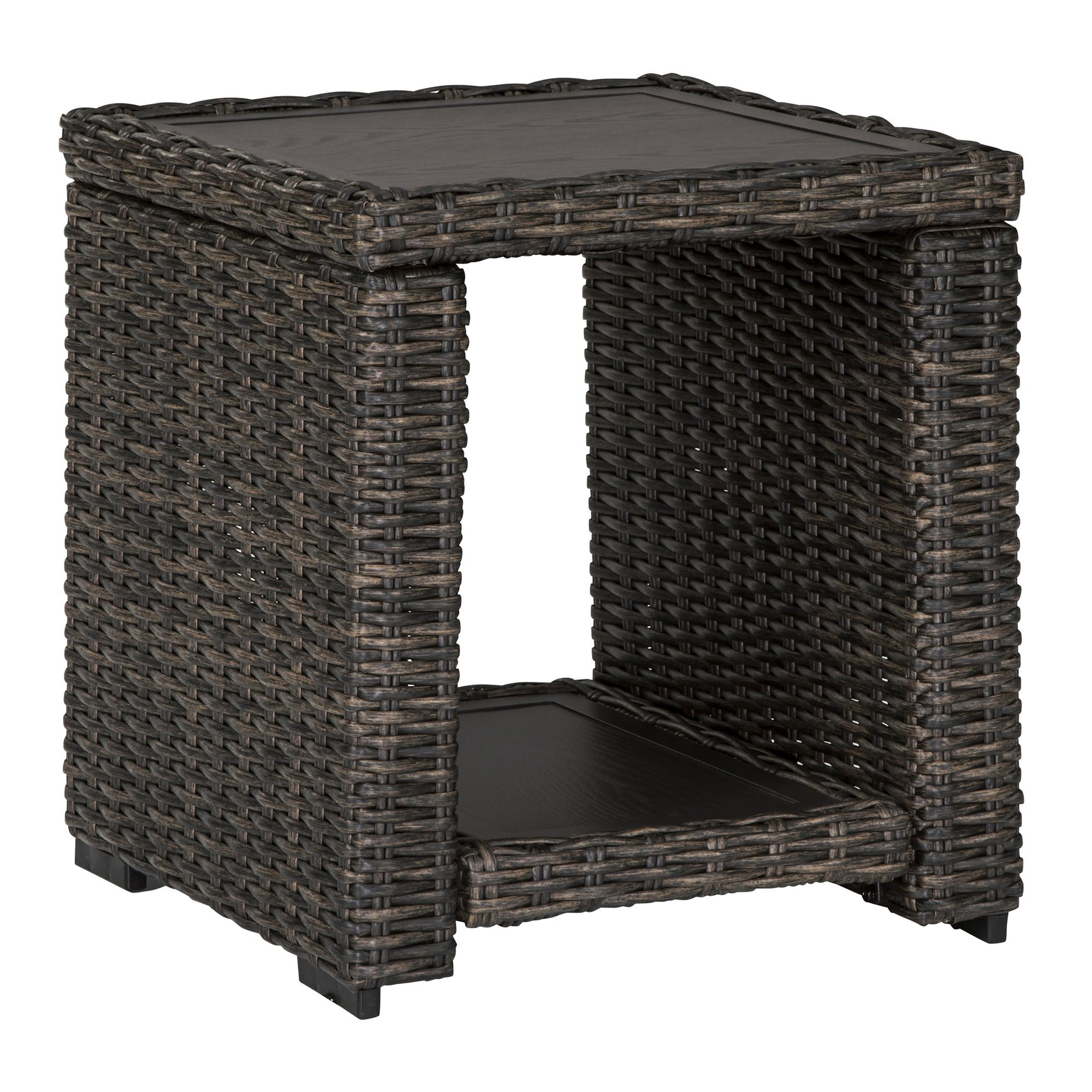 Sag Harbor Outdoor Woven End Table