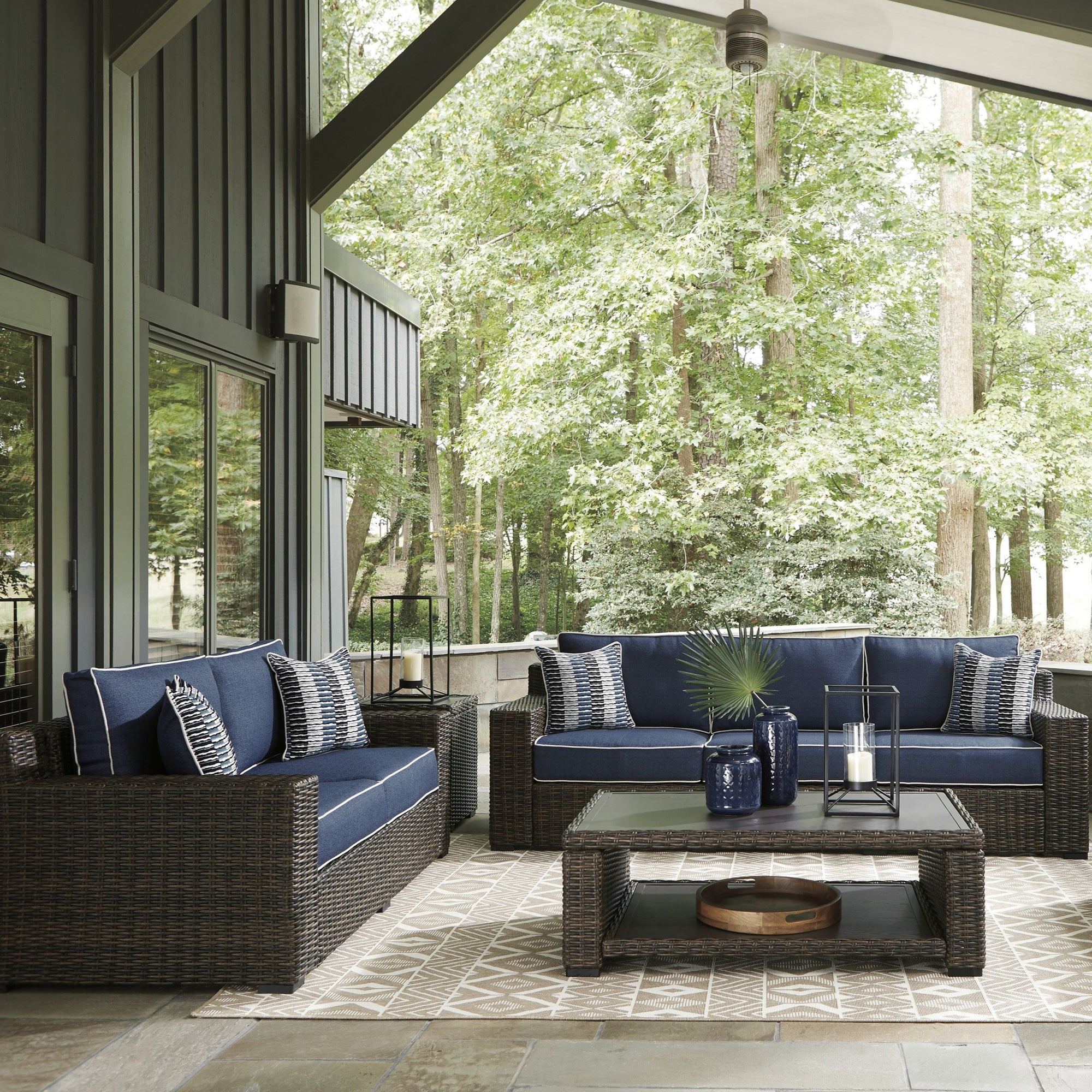 Sag Harbor 3-Piece Outdoor Deep Seating Set (Sofa, Loveseat, Coffee Table)