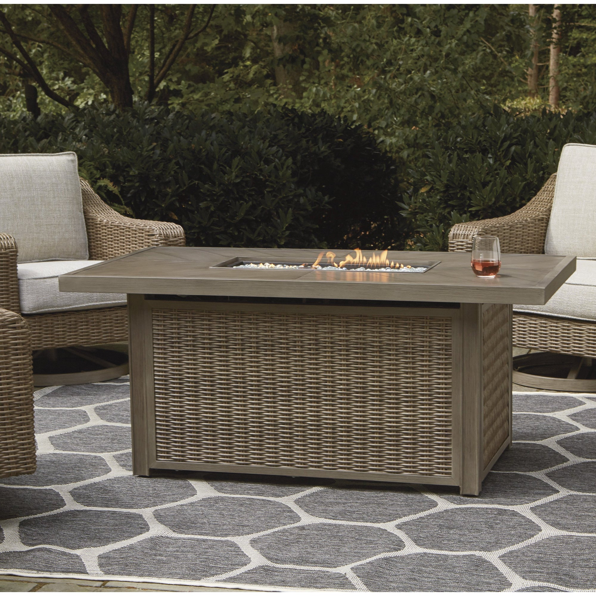 Fire Island Outdoor Firepit Table
