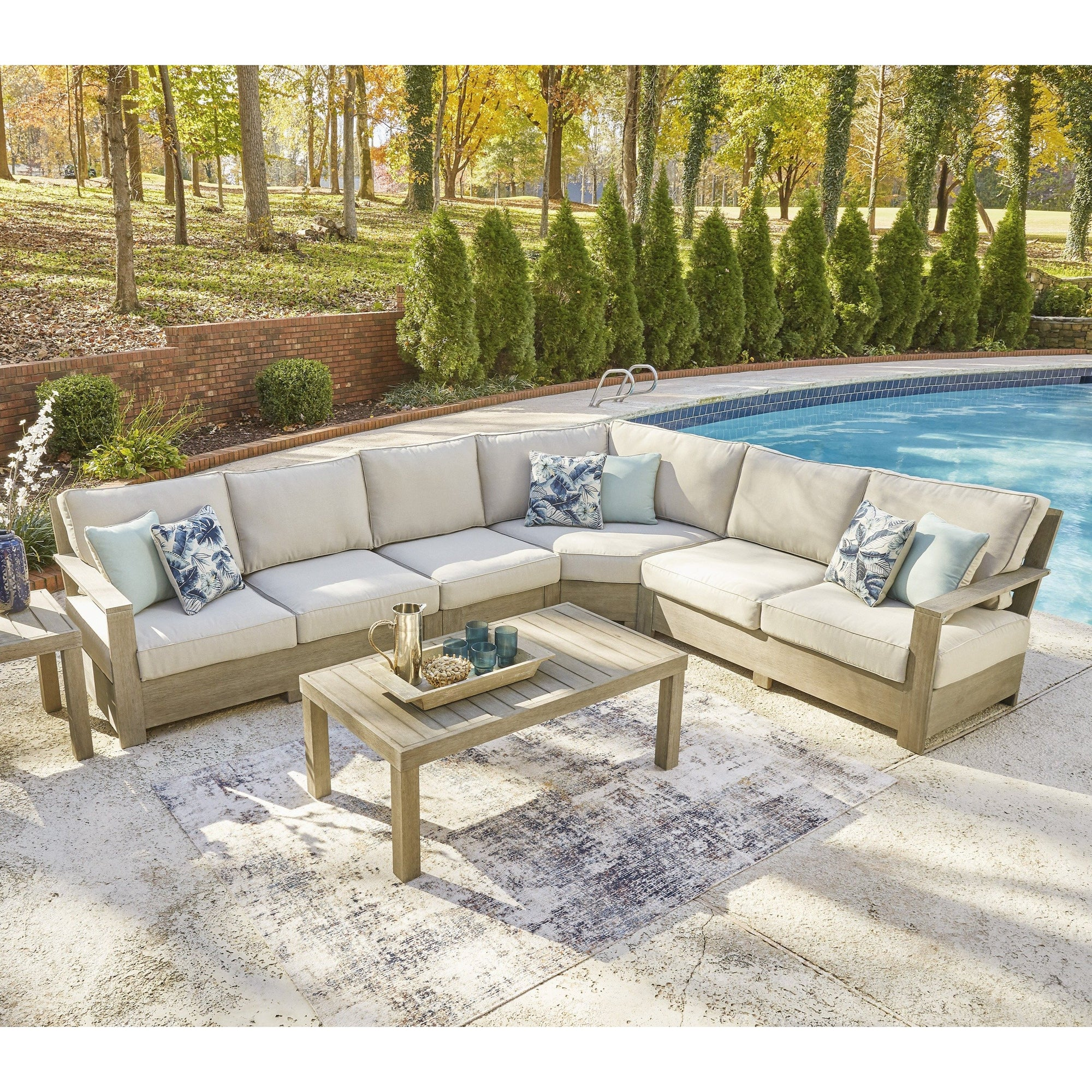 Dune Walk Taupe 4-Piece Outdoor Sectional