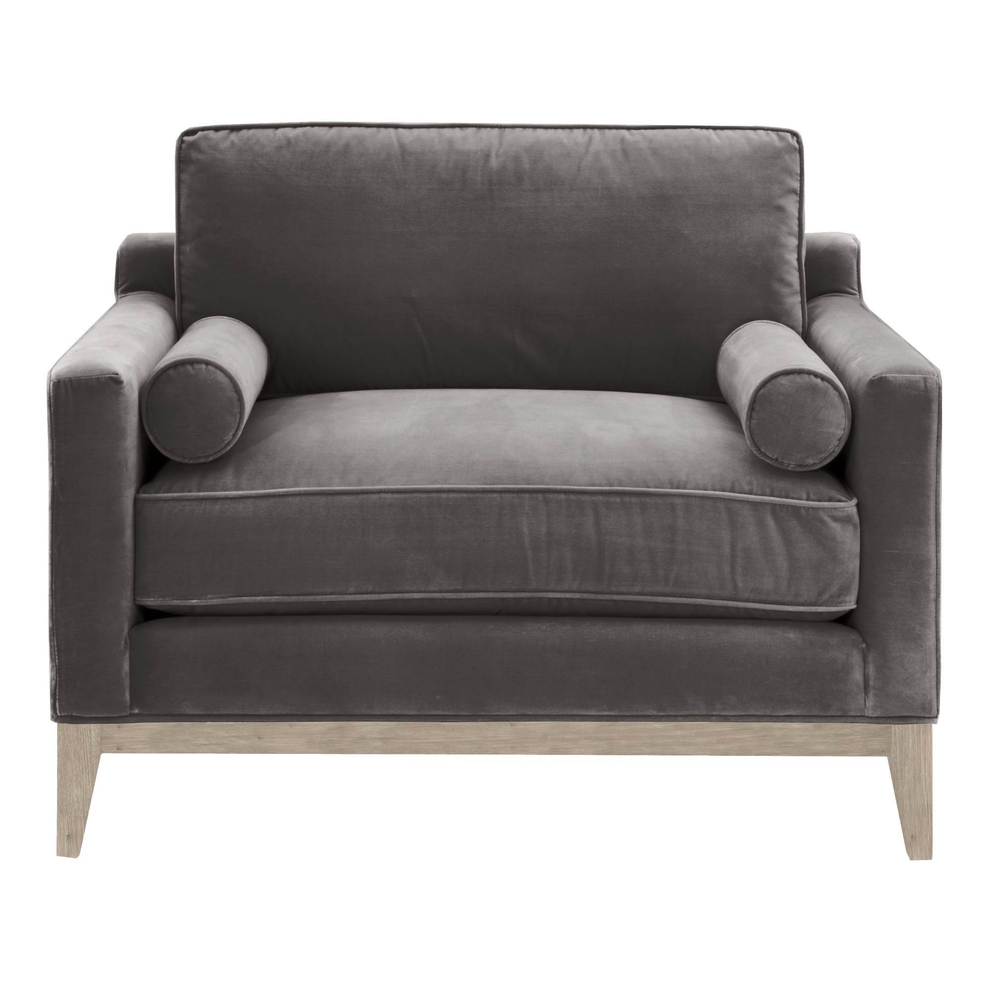 Parker Post Modern Sofa Chair in Natural Gray Oak