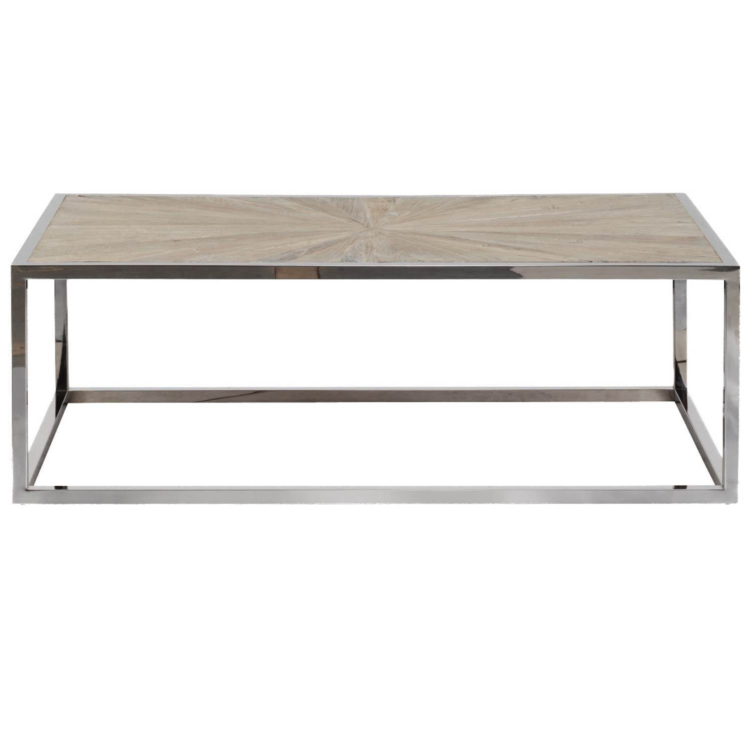 Parquet Coffee Table in Smoke Gray Elm