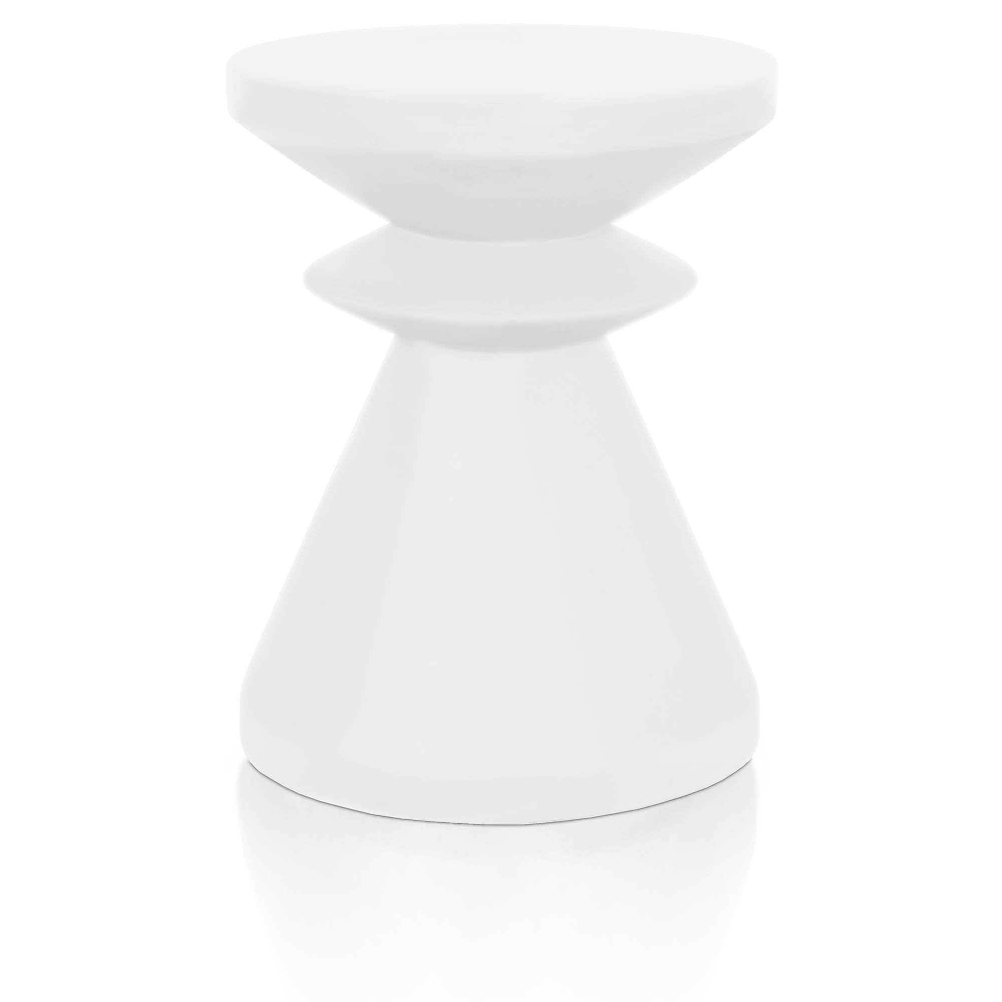 Pawn Accent Table in Ivory Concrete