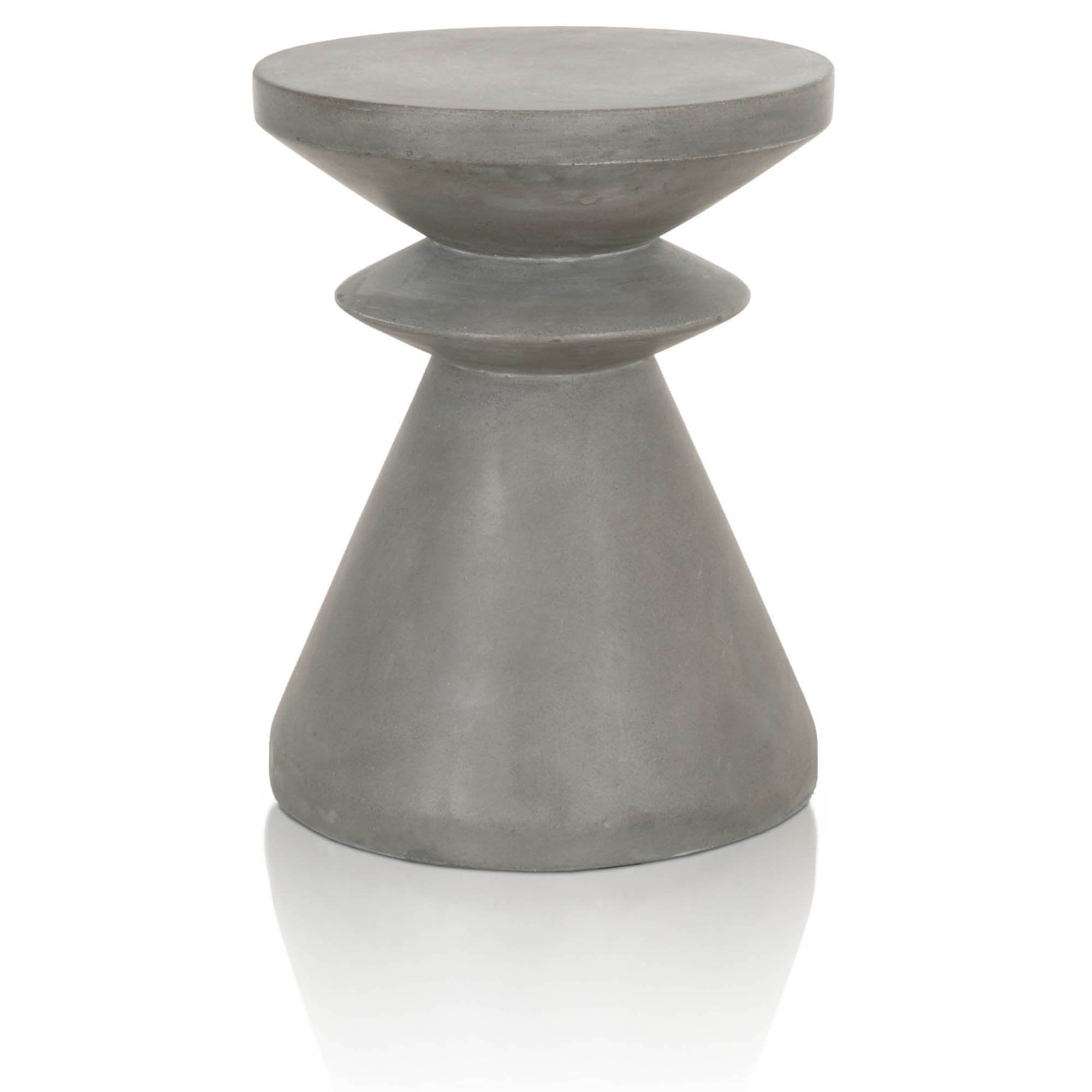 Pawn Accent Table in Slate Grey Concrete