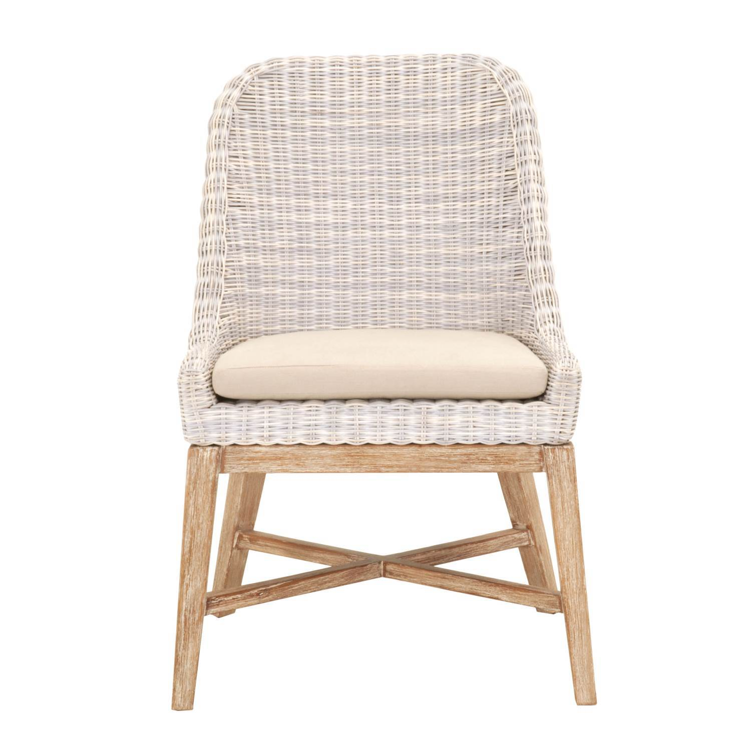 Plage Dining Chair (Set of 2) in 3mm Cream White Loom