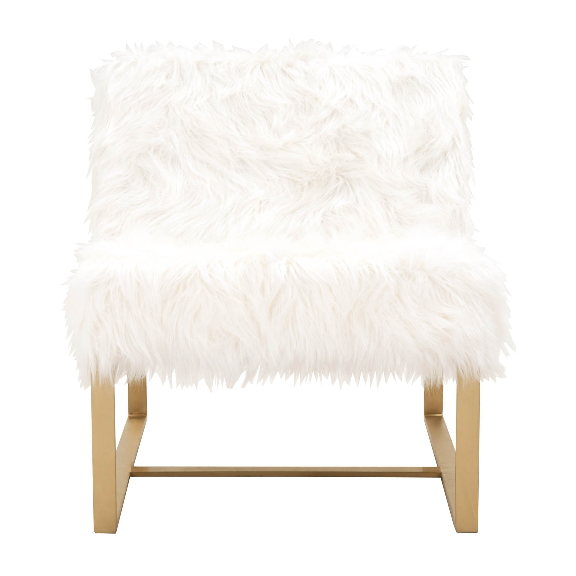 Presley Club Chair in White Fur