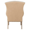 Quinn Tufted Arm Chair in Oatmeal Linen