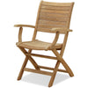 Palu Teak Outdoor Folding Armchair with Cushion