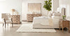 Sloan Queen Bed in Cream Velvet