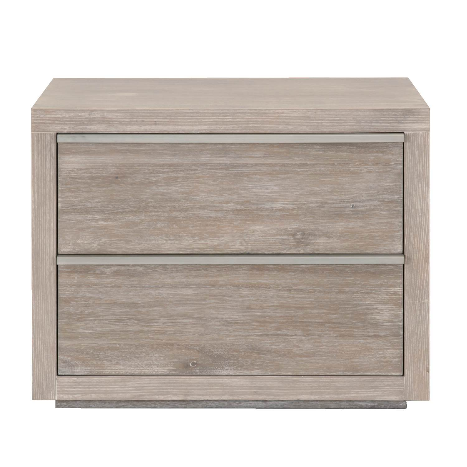 Steele 2-Drawer Nightstand in Natural Gray