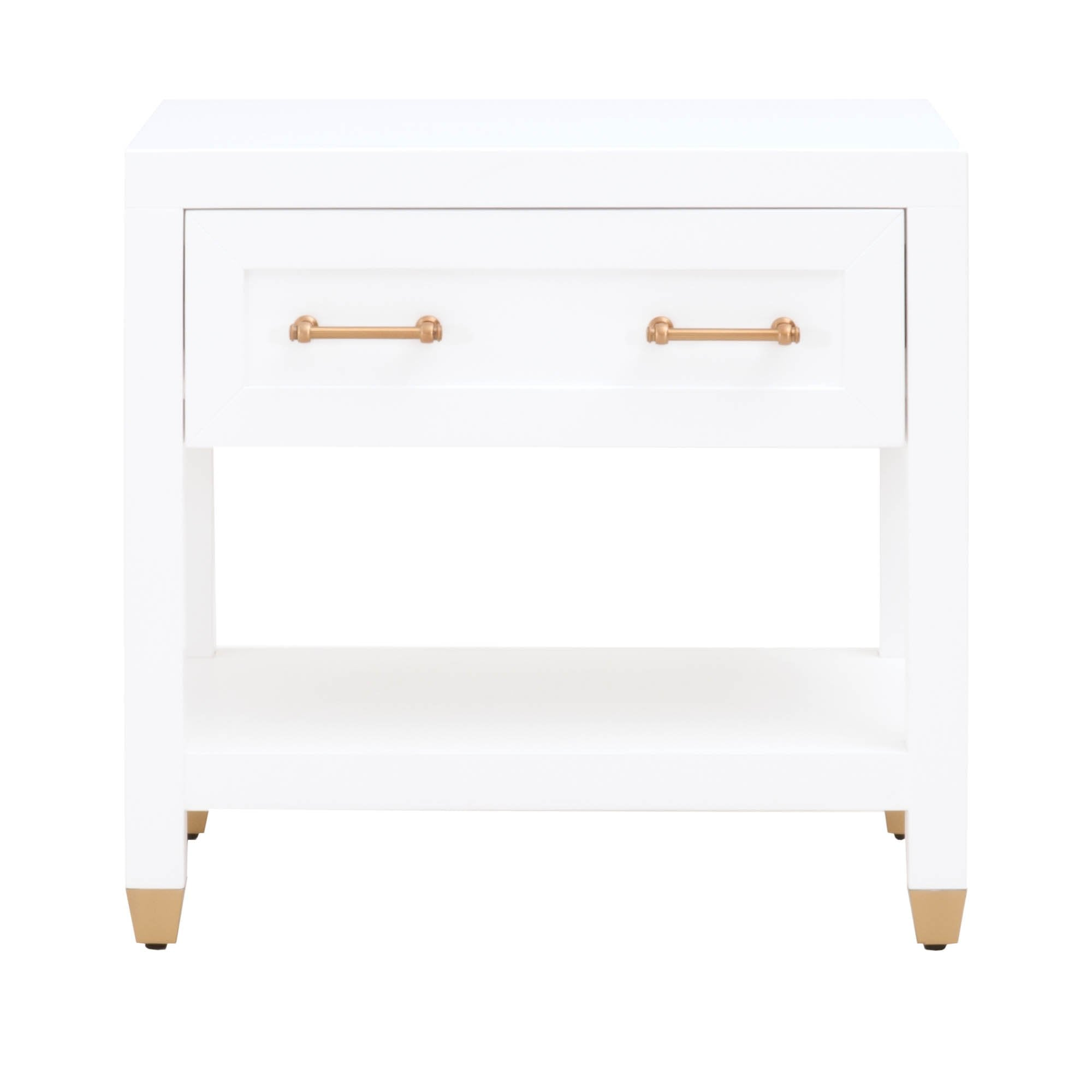Stella 1-Drawer Nightstand in Matte White