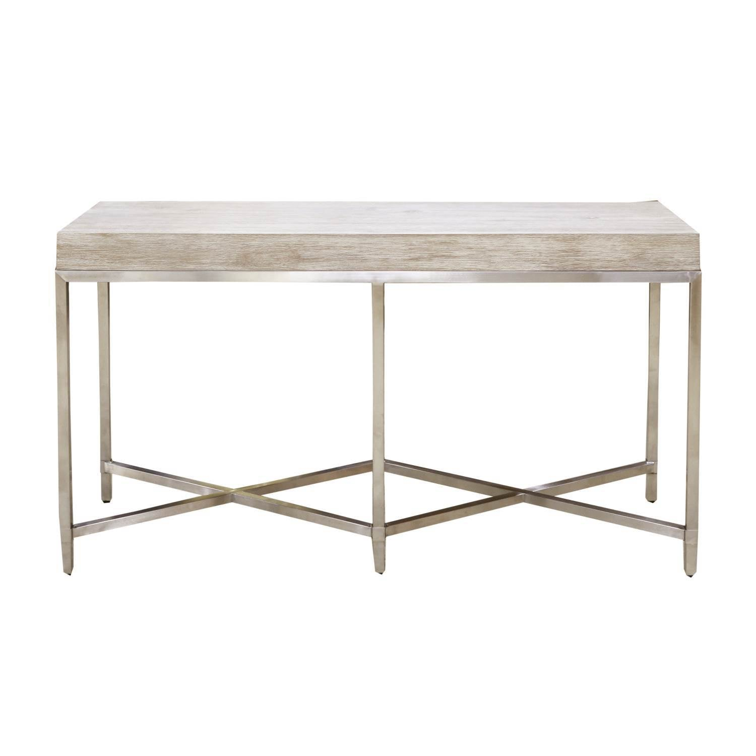 Strand Console Table in Natural Gray
