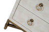 Strand Shagreen 3-Drawer Nightstand in White Shagreen