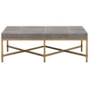 Strand Shagreen Coffee Table in Gray Shagreen
