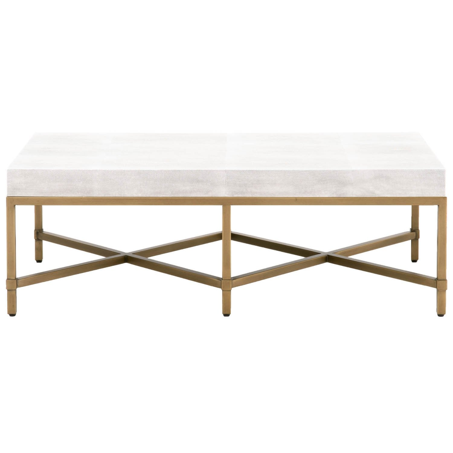 Strand Shagreen Coffee Table in White Shagreen