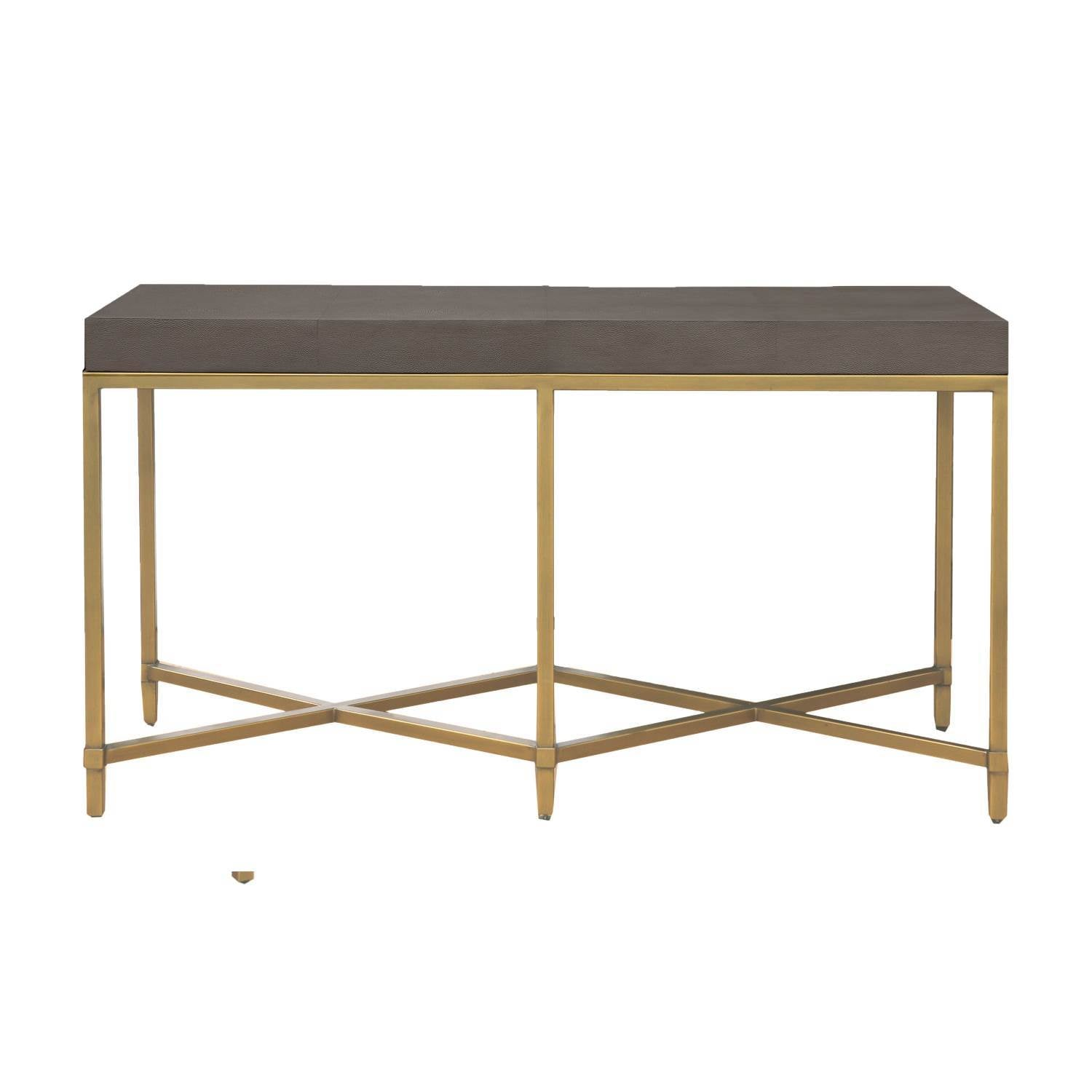 Strand Shagreen Console Table in Gray Shagreen