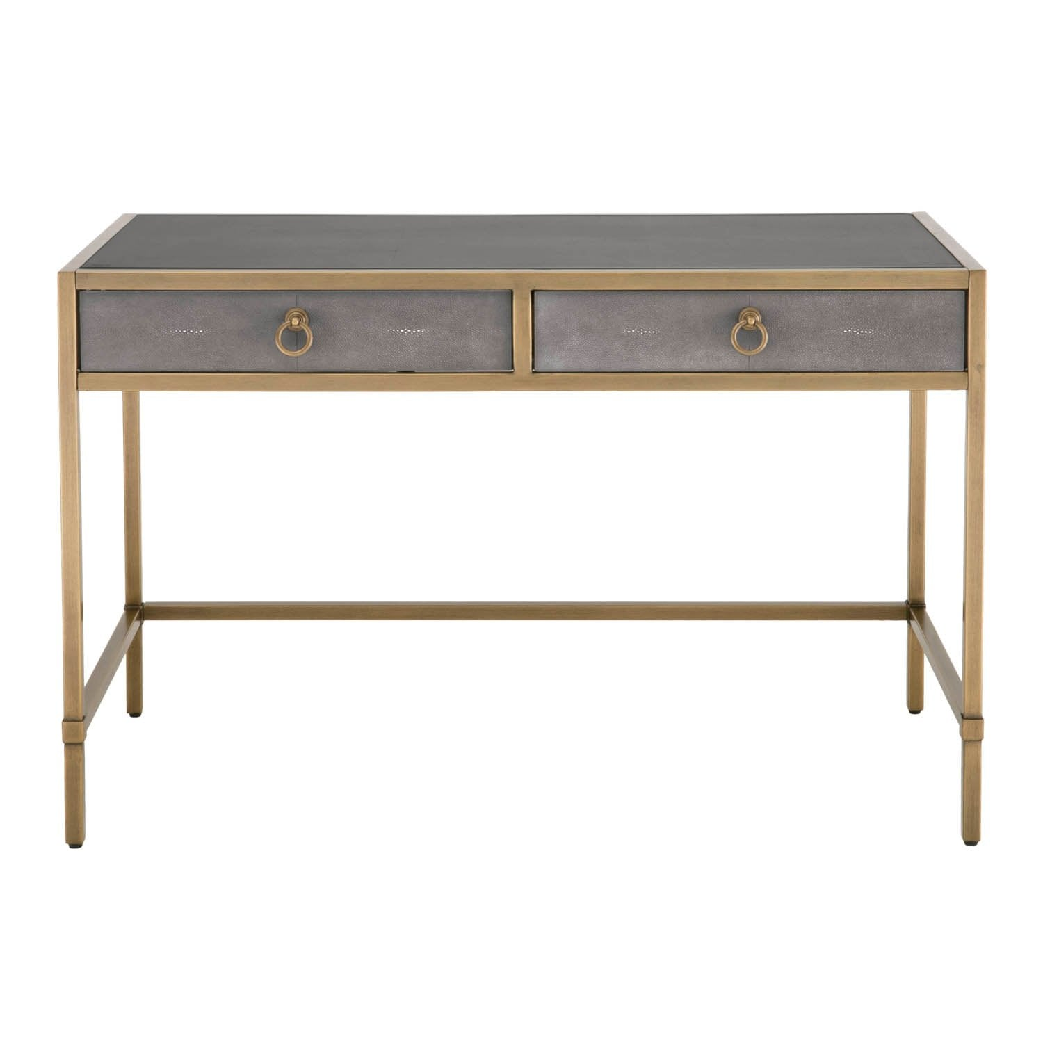 Strand Shagreen Writing Desk in Gray Shagreen