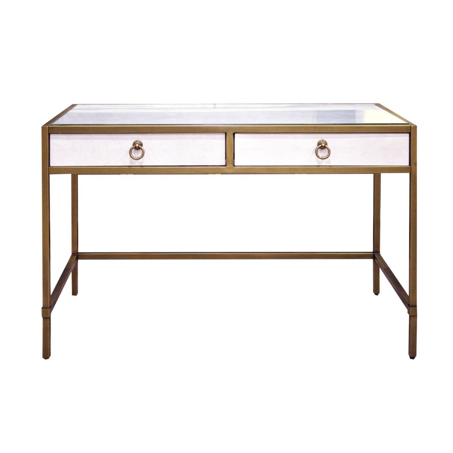 Strand Shagreen Writing Desk in White Shagreen