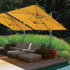 Polaris 13-Foot Square Commercial Grade High-Performance Cantilever Umbrella with Base
