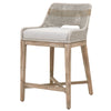 Tapestry Counter Stool in Taupe & White Flat Rope