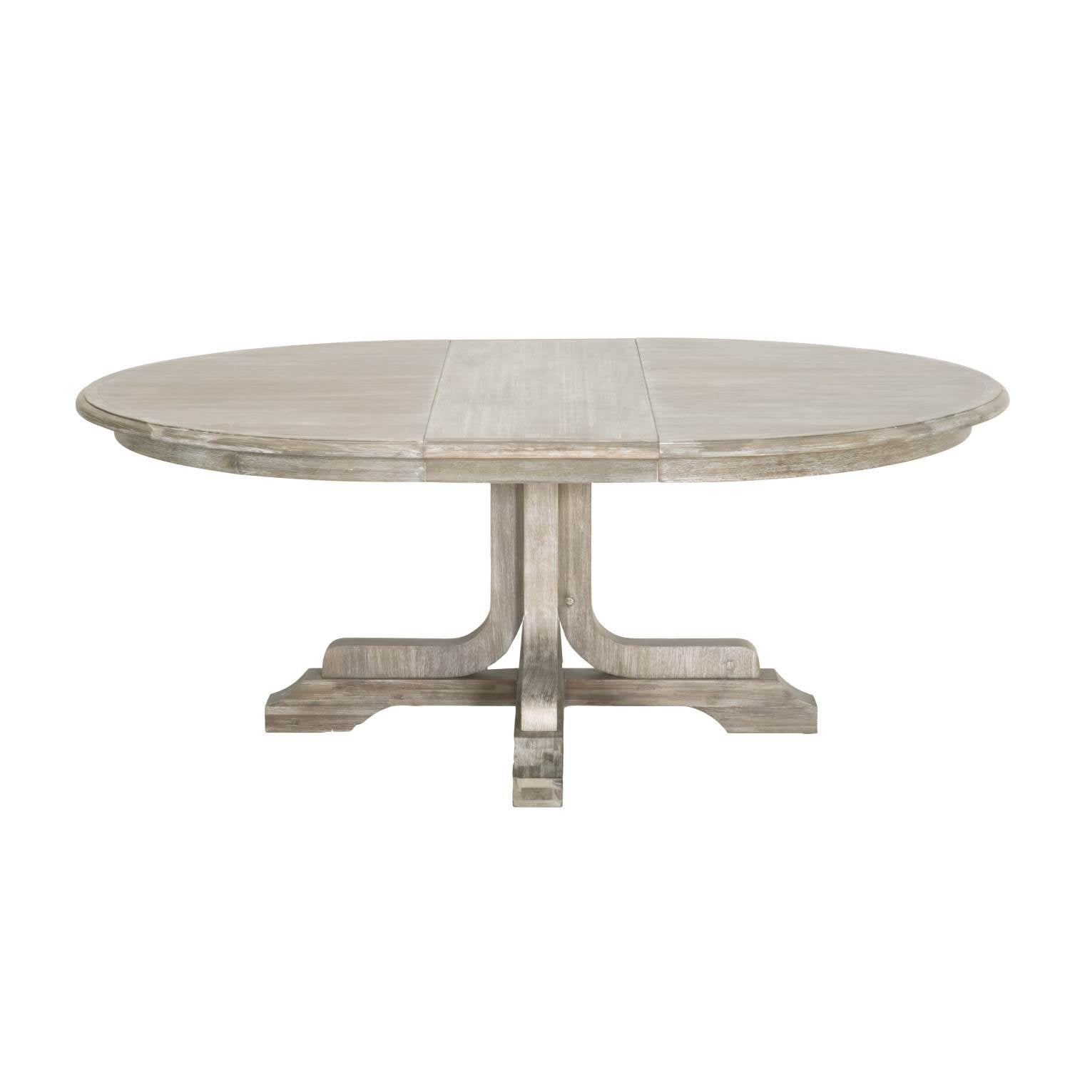 "Torrey 60"" Round Extension Dining Table in Natural Gray"