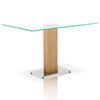 Tower Dining Table in Stainless Steel