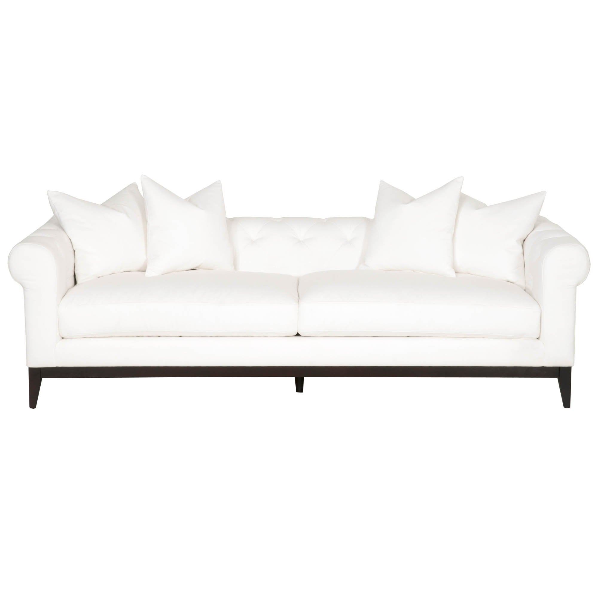"Tux 96"" Modern Chesterfield Sofa in LiveSmart Peyton-Pearl"