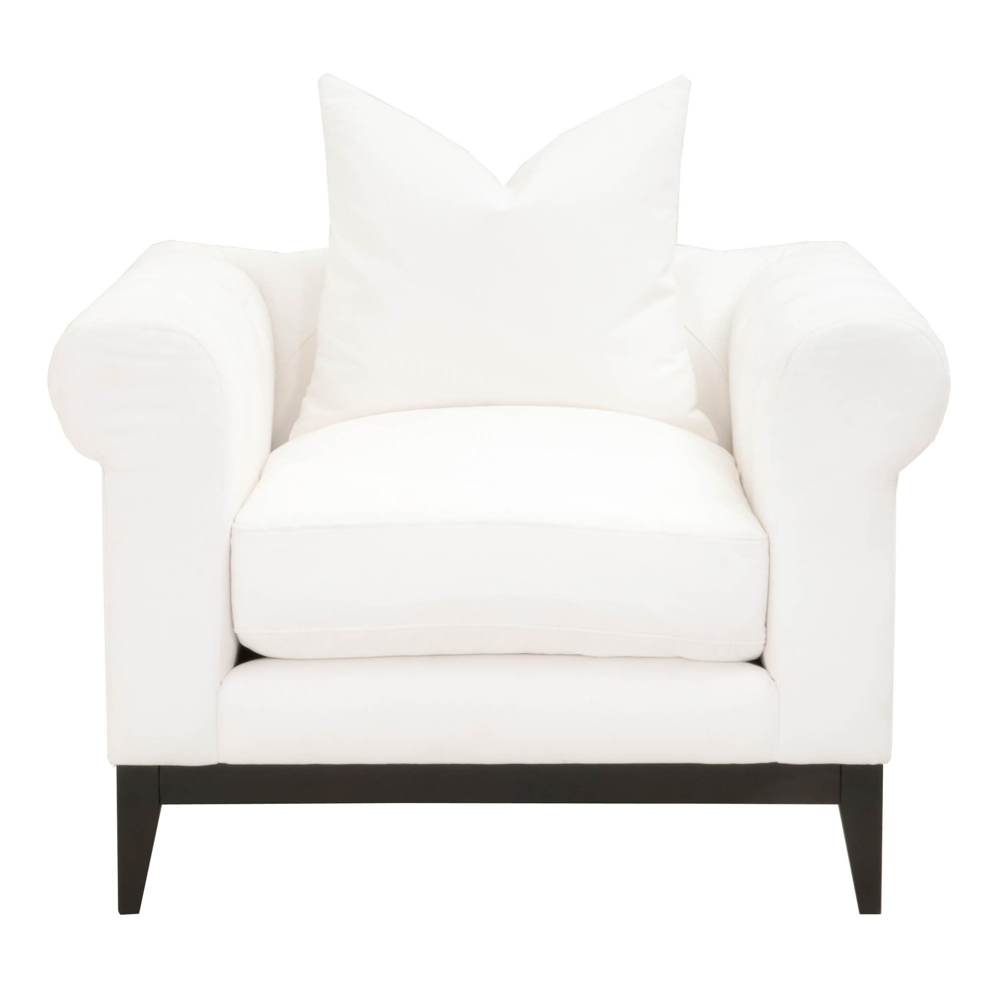 Tux Modern Chesterfield Sofa Chair in LiveSmart Peyton-Pearl