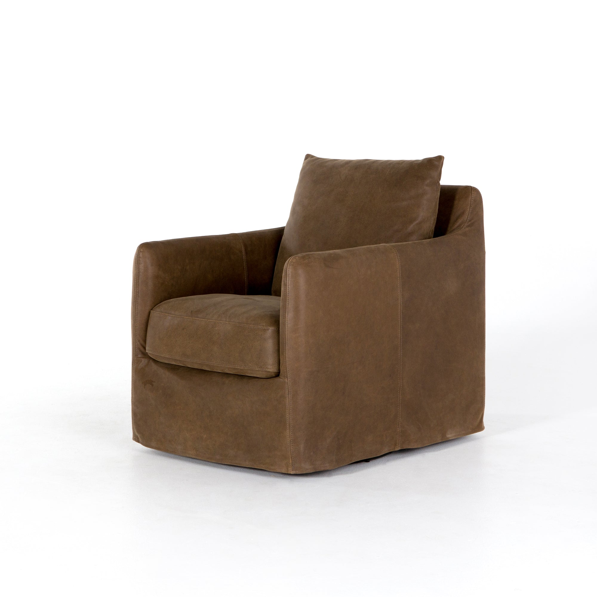 Banks Swivel Chair - Umber Grey