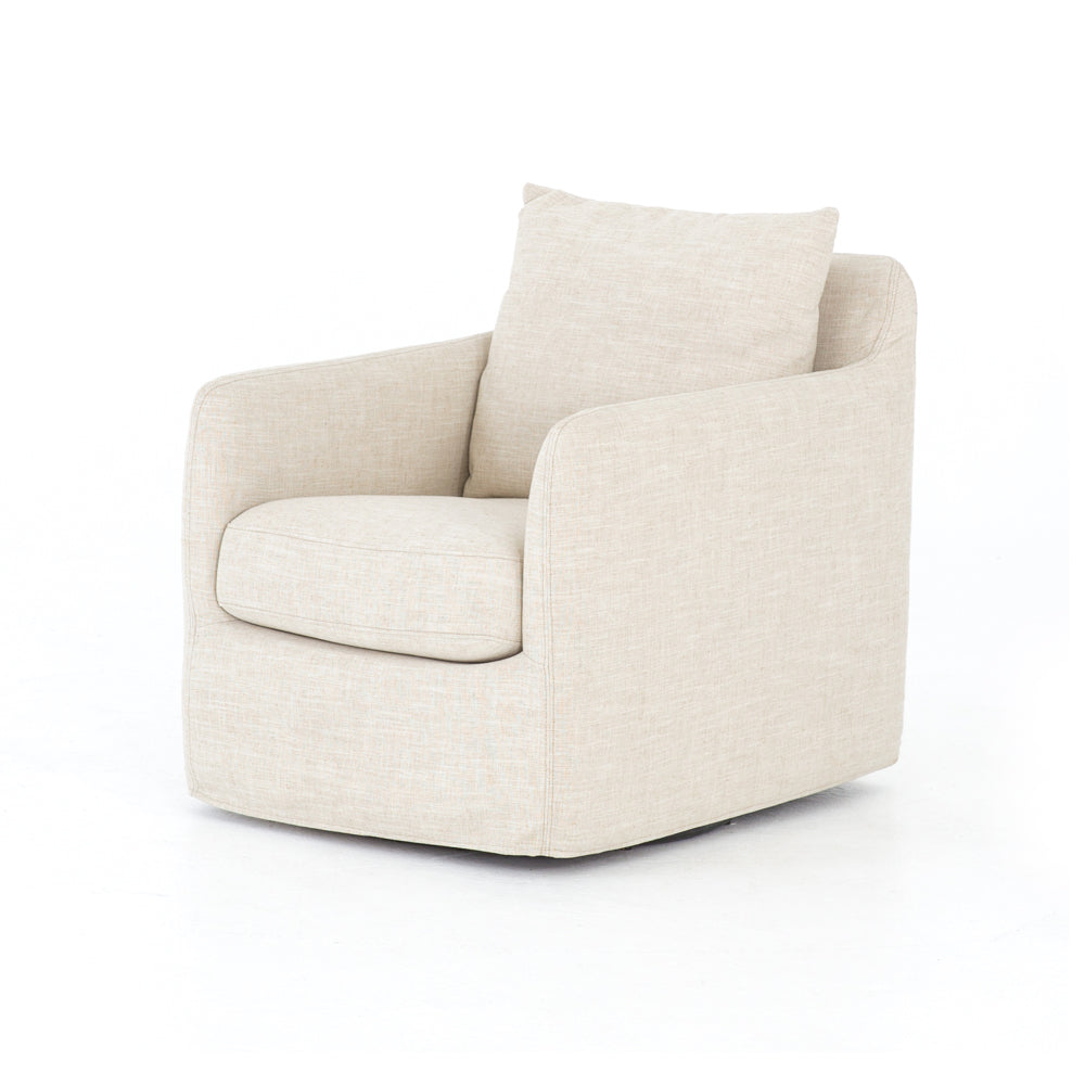 Banks Swivel Chair - Cambric Ivory