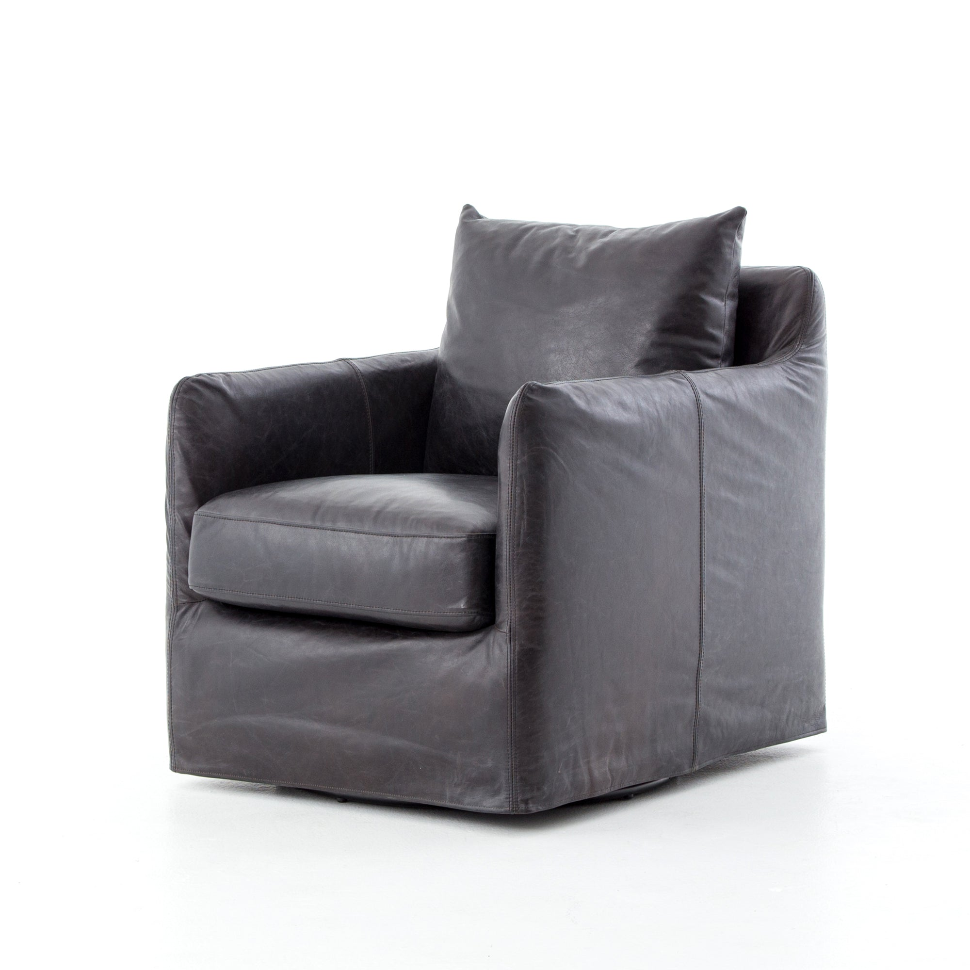 Banks Swivel Chair - Rider Black