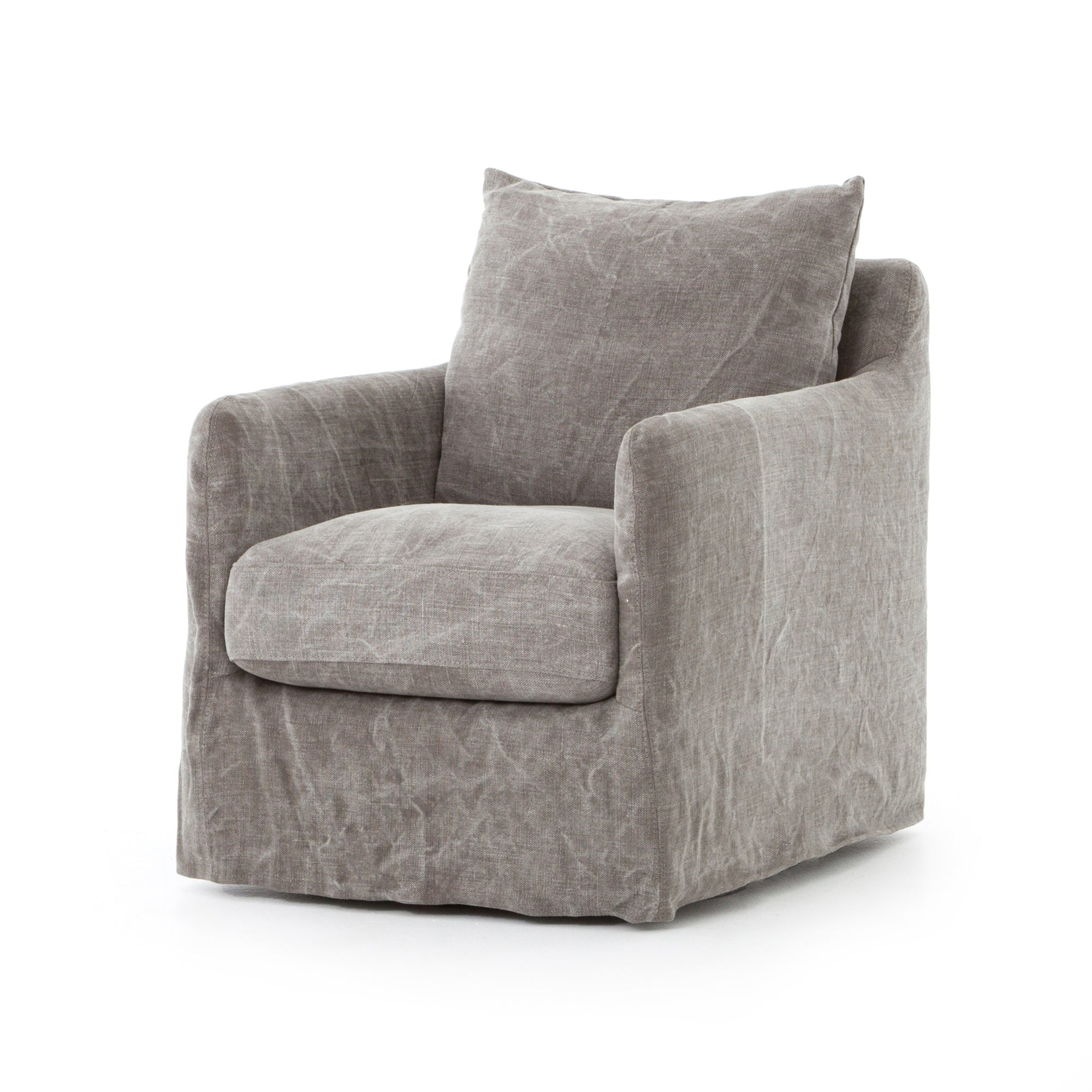 Banks Swivel Chair - Stonewash Heavy Jute