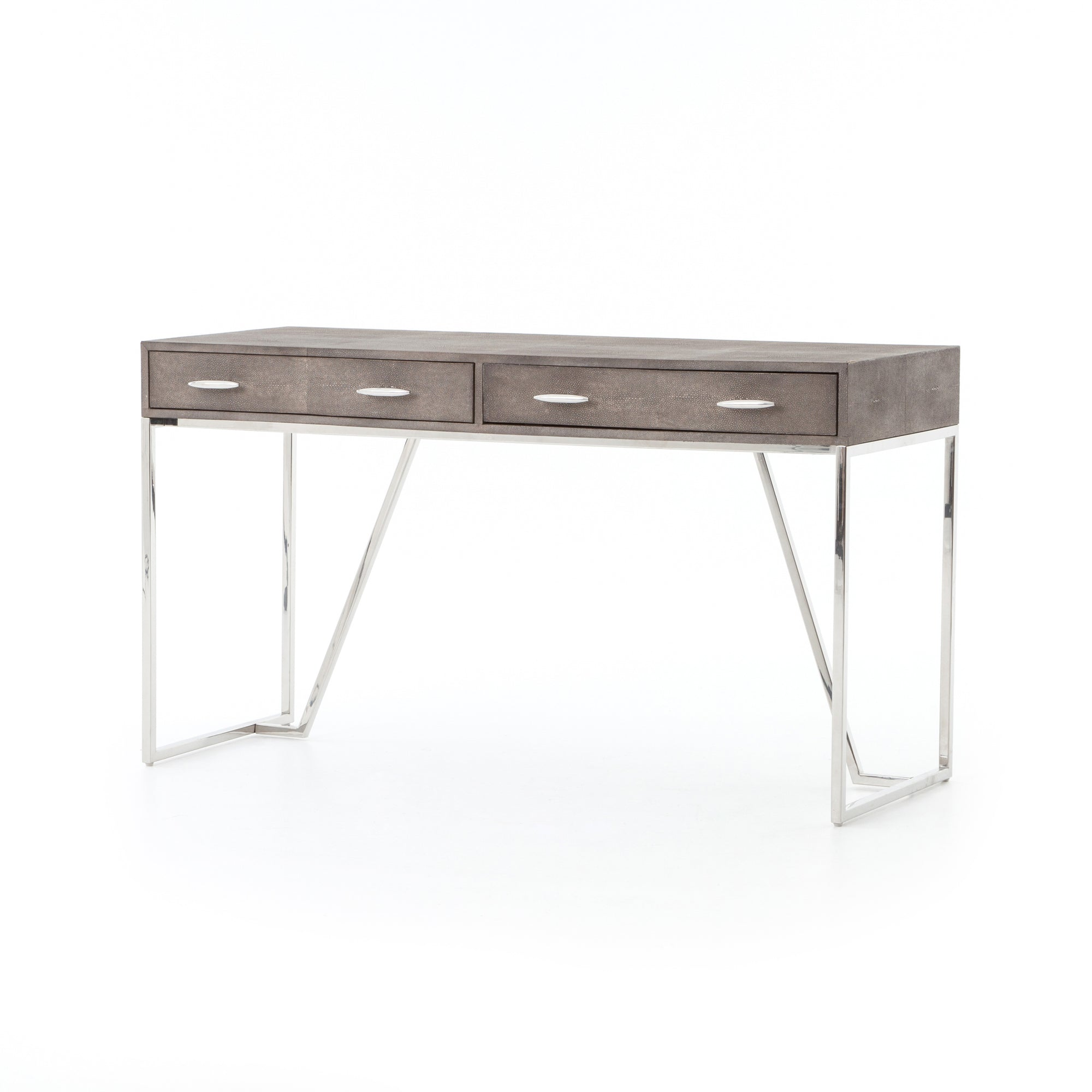Shagreen Desk - Stainless
