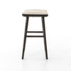 Union Saddle Counter Stool - Light Carbon