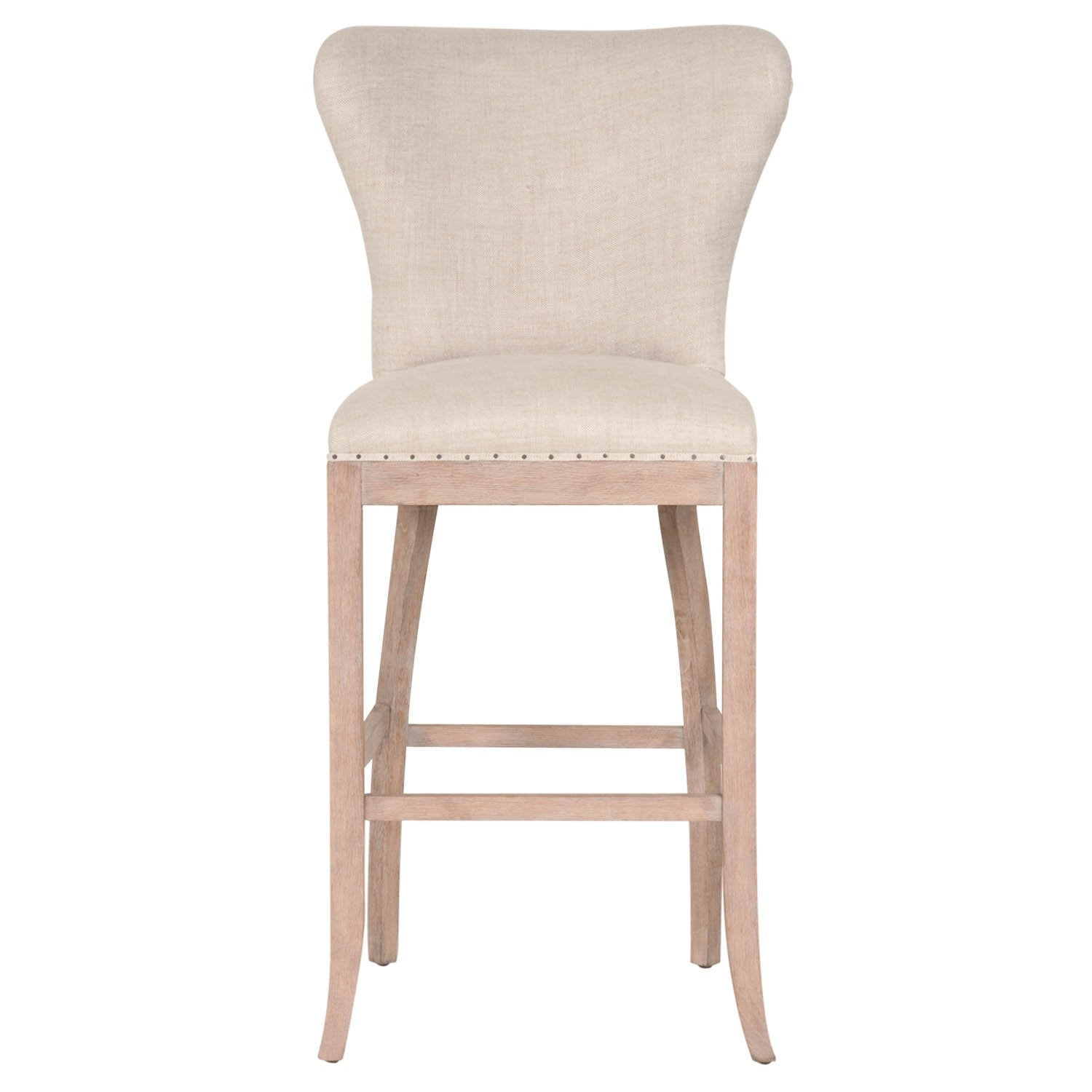 Welles Barstool in Bisque French Linen