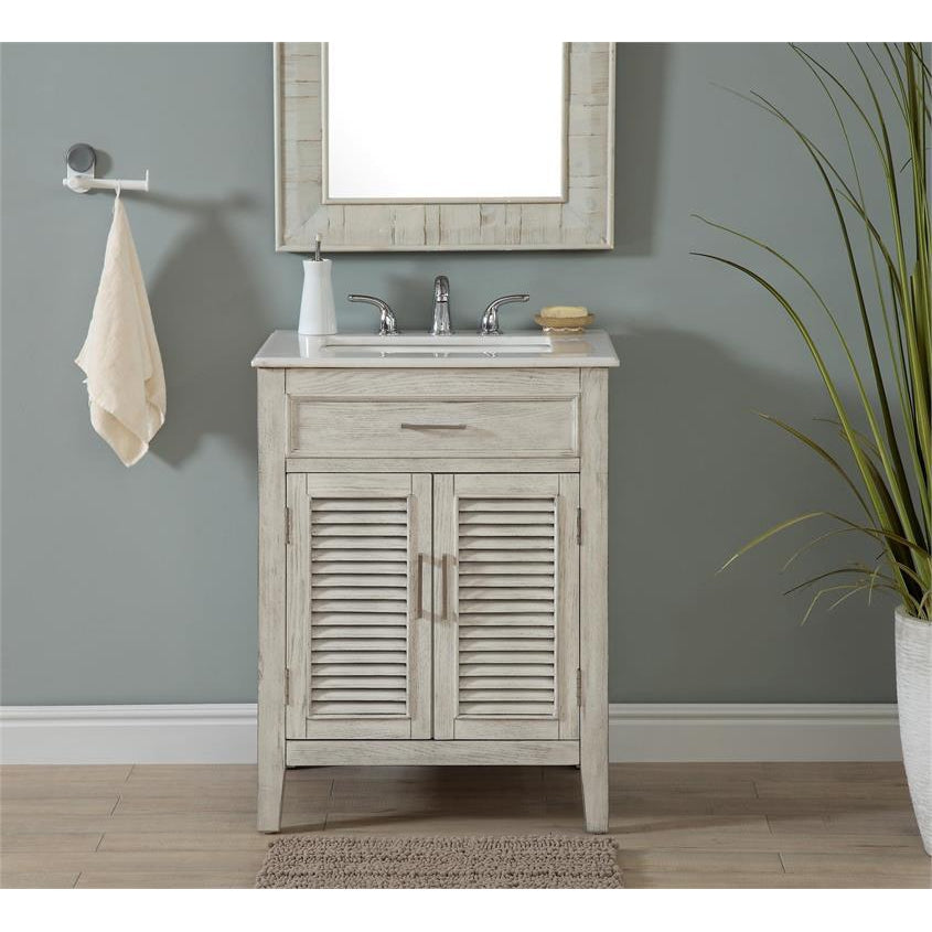 Transitional 2-Door Vanity Sink 26""
