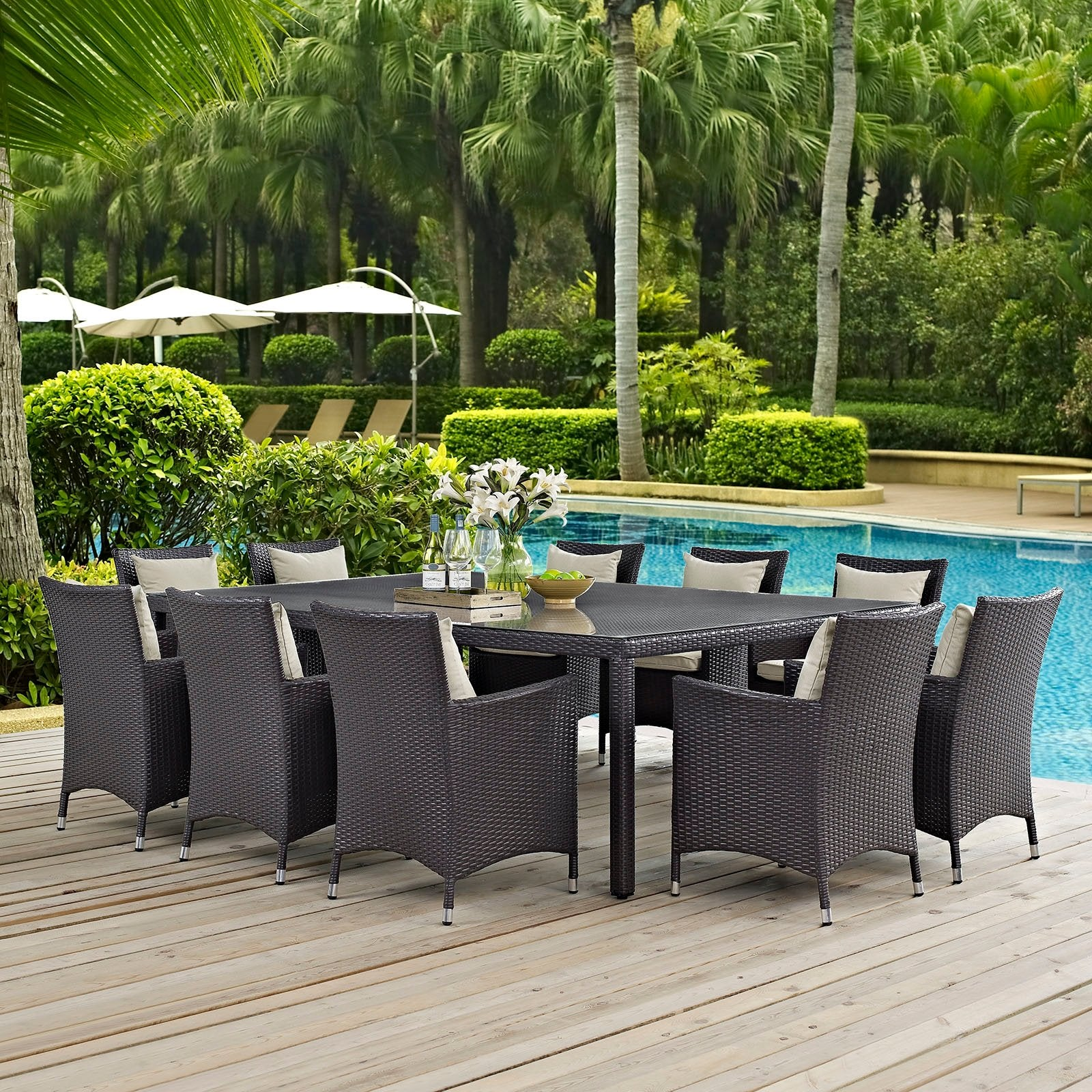 Aruba 11-Piece Outdoor Dining Set