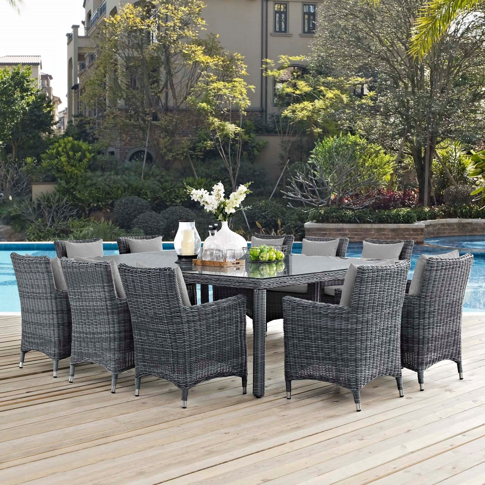 St Barts 11-Piece Banquet Outdoor Dining Set