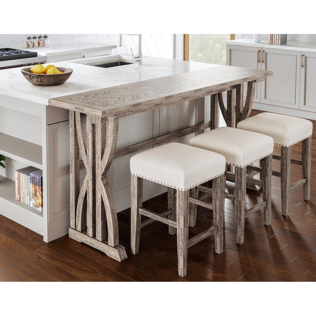Chevron Ash Study Hall 4-Piece Console Dining Set