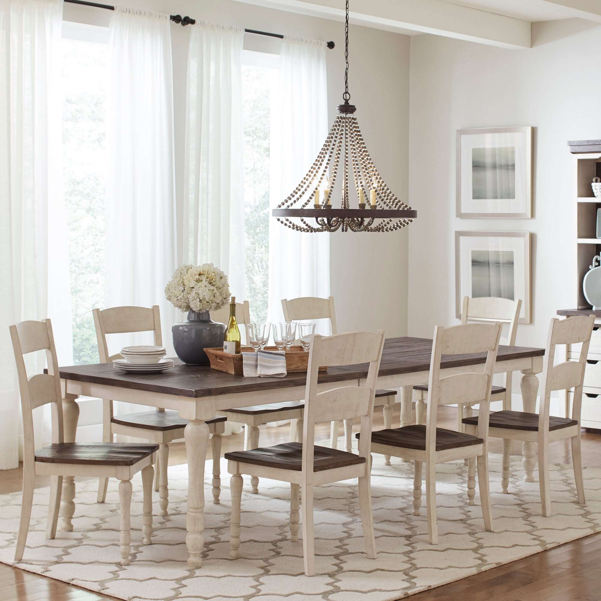 Urban Loft 7-Piece Extendable Dining Set