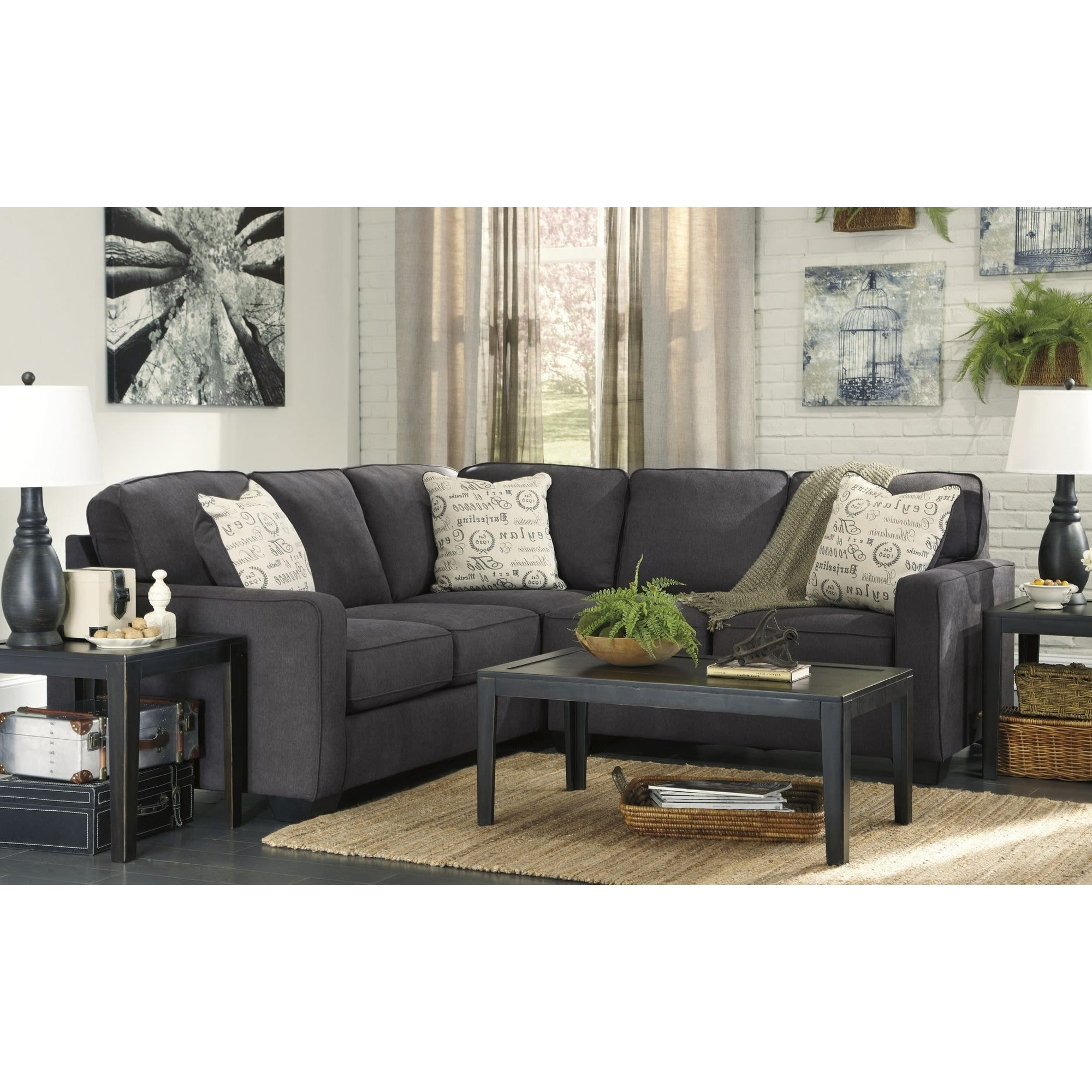 Bermuda Grey 2-Piece Sectional