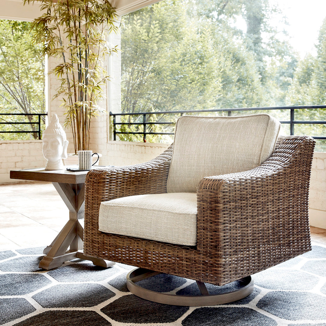 Fire Island Outdoor Swivel Rocker Chair