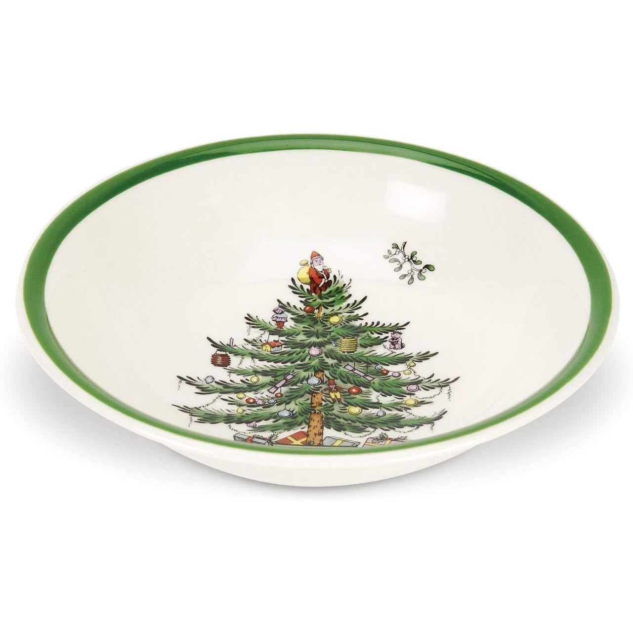 Spode Christmas Tree Ascot 8-inch Cereal Bowl, Set of 4