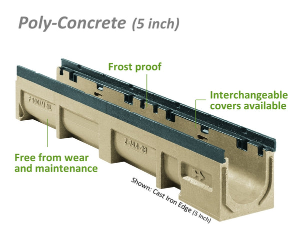 Poly-Concrete Channel - 5 Inch