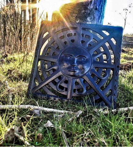 Powder Coated Black Sun Cast Iron Gully Cover