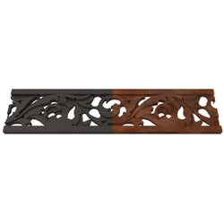 Acanthus Cast Iron Channel Drain Grate 305 x 70mm (12 x 3 Inch), Channel Drain Grate - Lateral Design Studio