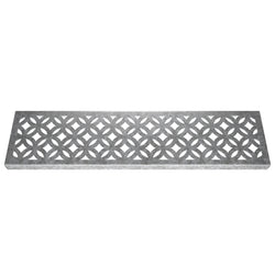 Archez Galvanised Mild Steel Channel Drain Grate 125mm x 1000mm (5 Inch)